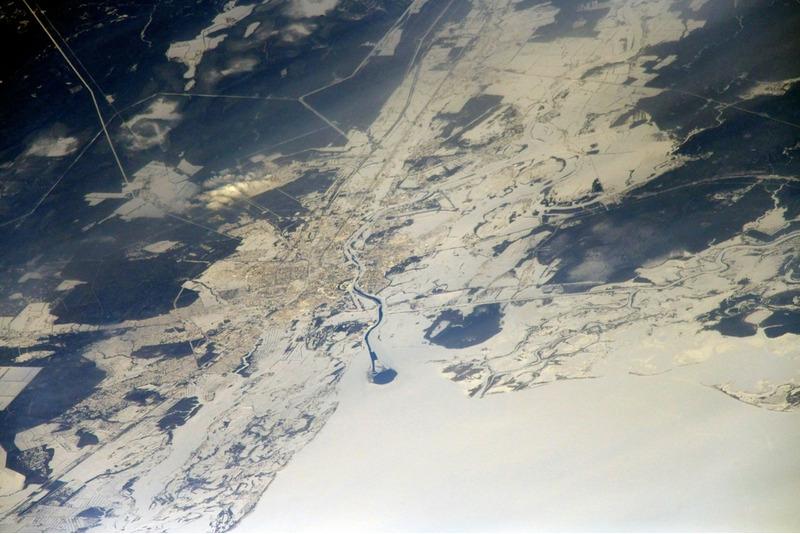 Великий Новгород из космоса