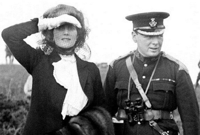 Уинстон Черчилль и его жена Клементина