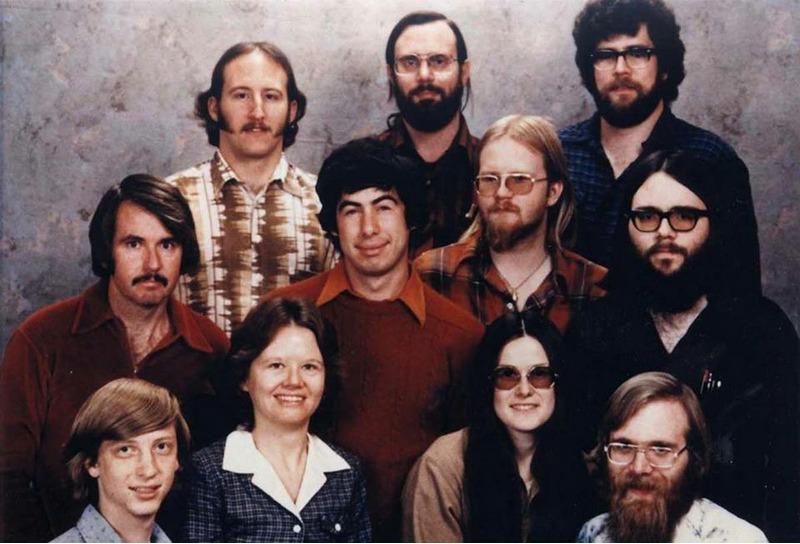 Команда Microsoft в 1978 году