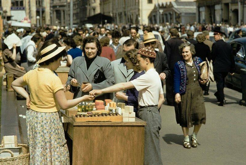 Москве на цветных снимках 1959 года