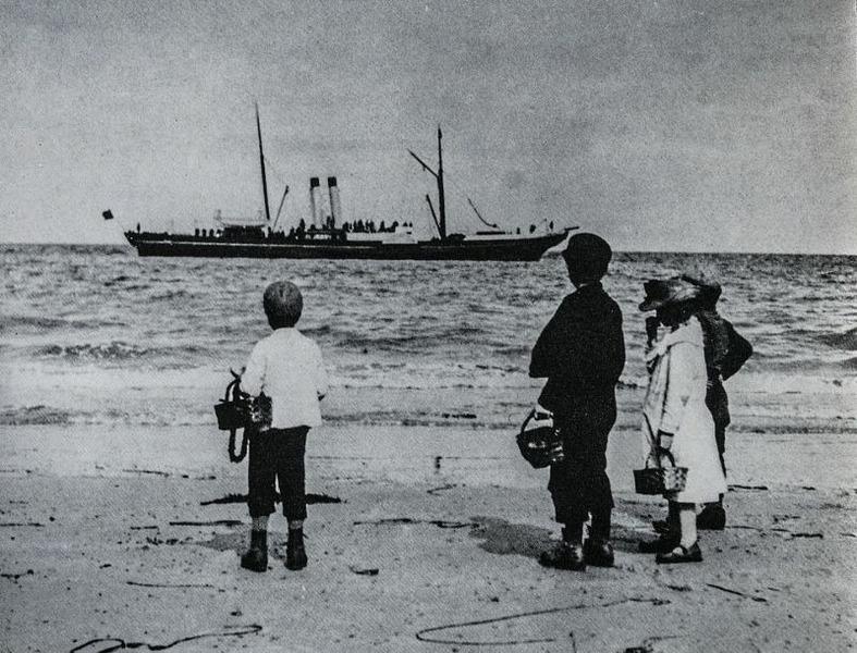 Отдых на британских пляжах в 1890