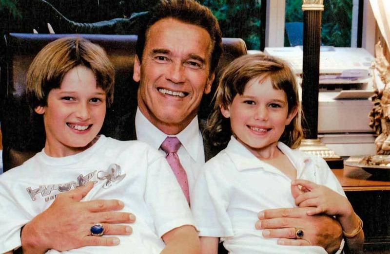 Арнольд Шварценеггер со своими сыновьями Патриком и Кристофером
