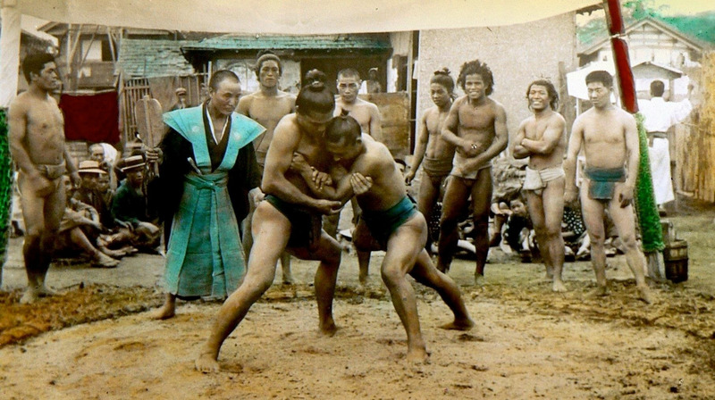 Борцы сумо Япония 1898 год