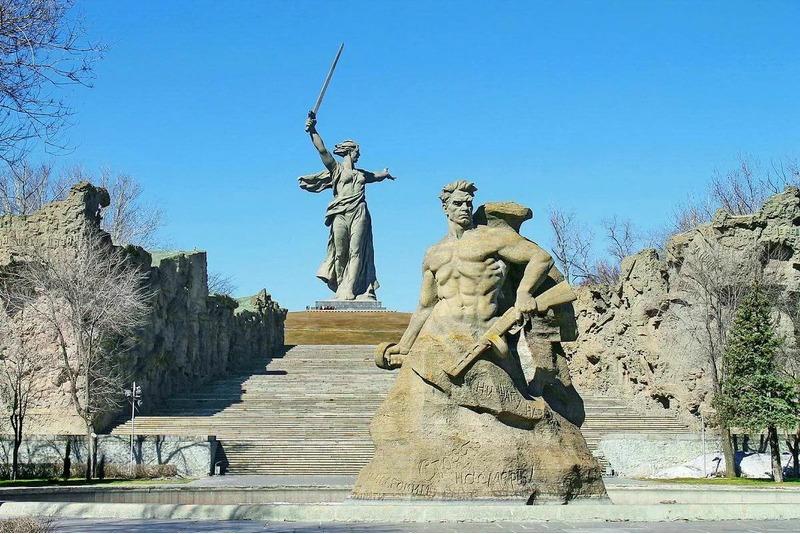 мемориальный комплекс Сталинградской битвы на Мамаевом кургане