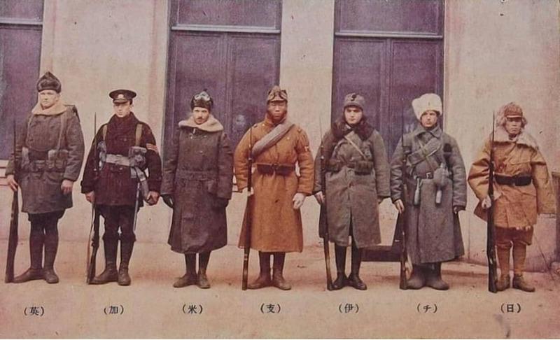 Солдаты из Чехословакии, Канады, Великобритании, Китая, Италии, Соединенных Штатов и Японии в Сибири, Гражданская война в России, 1919 год