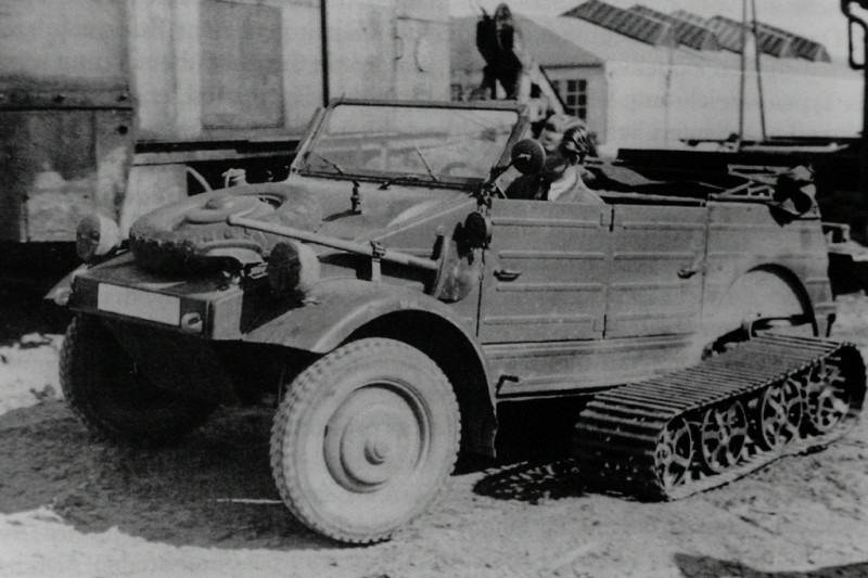 Немецкий опытный полугусеничный автомобиль Volkswagen Typ 155