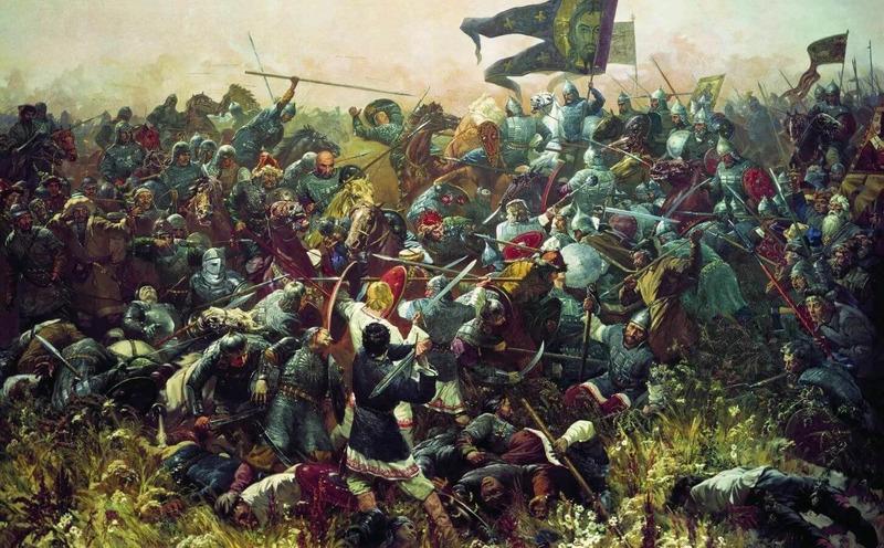 Победа русских войск в Куликовской битве