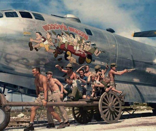 Экипаж американского стратегического бомбардировщика В-29 Superfortress, 1944 год