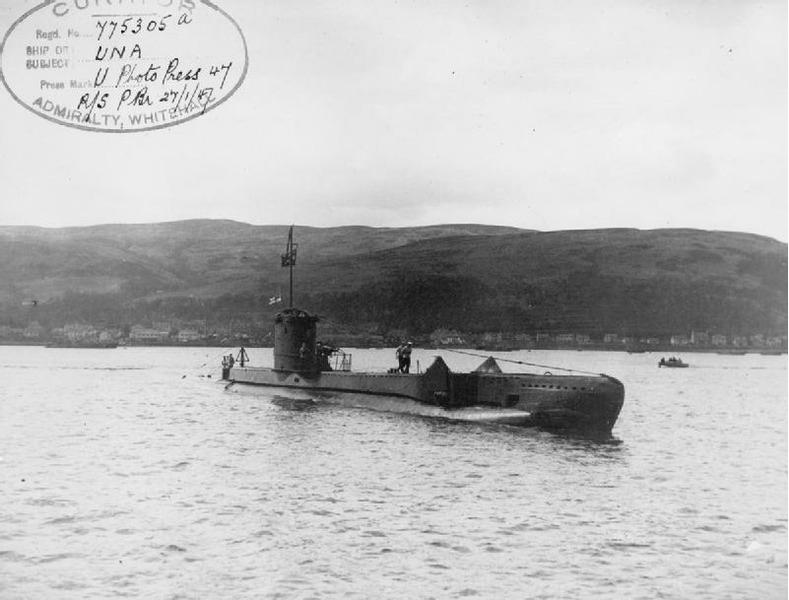 Британская дизельная подводная лодка HMS Una