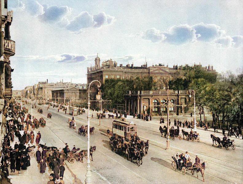 Санкт-Петербург до революции. Колоризация фото