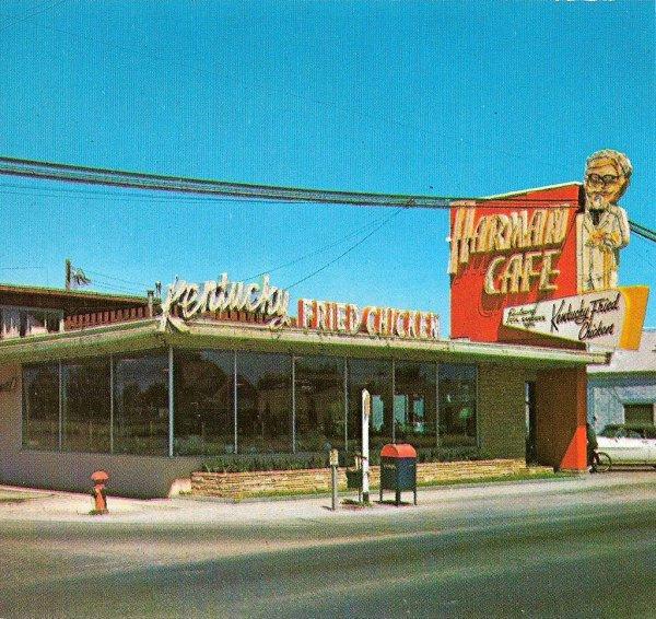 Одна из первых закусочных KFC, 1952 год