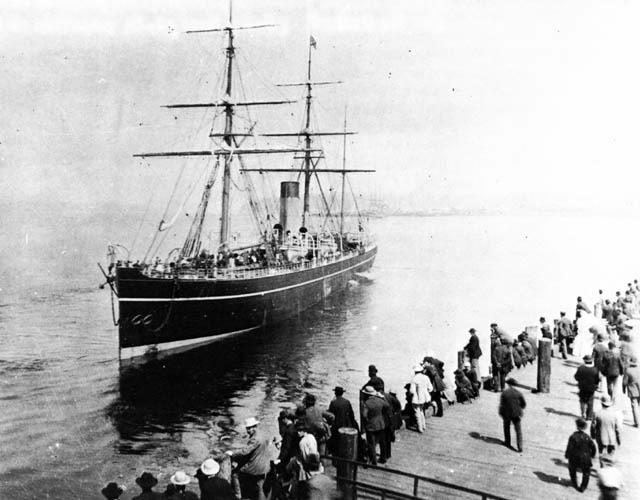 Абиссиния в порту Ванкувера, июнь 1887 года