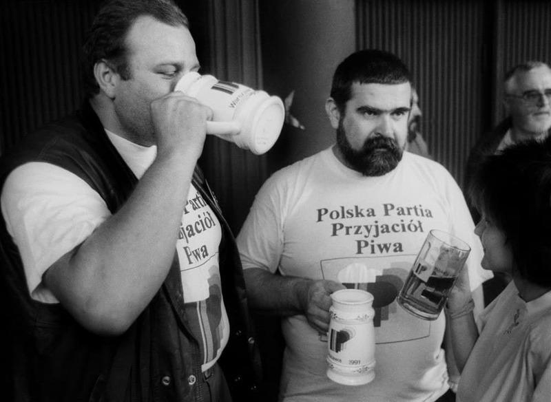 Основатели Польской Партии Приятелей Пива - Януш Ревиньский и Лешек Бубель