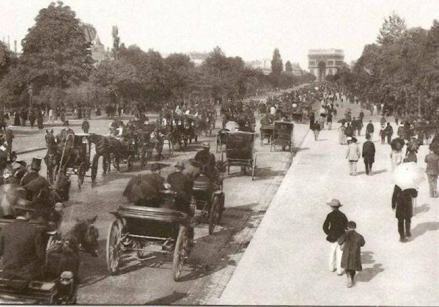 Париж. Елисейские поля, 1900 год.
