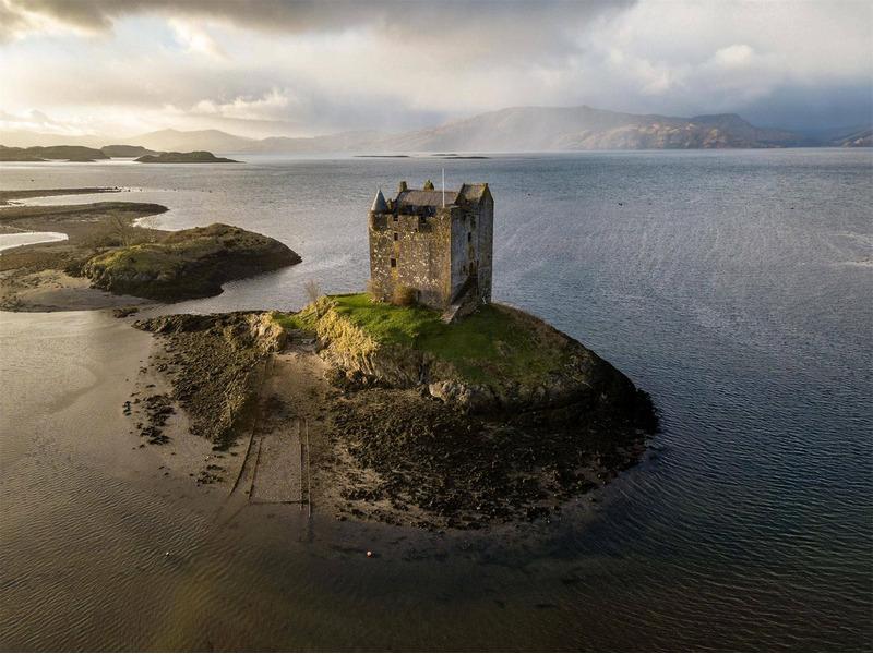Замок Сталкер в Шотландии