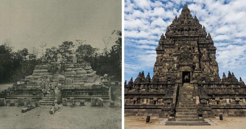 Храм Прамбанан, Индонезия. Древнейшая постройка датируется 2500 годом до нашей эры. Раскопан и отреставрирован в первой половине 20 века.