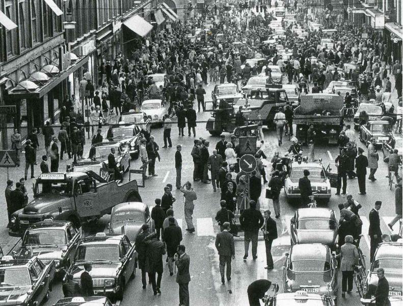 Переход Швеции на правостороннее автомобильное движение 3 сентября 1967 года.
