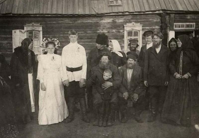 Деревенская свадьба, 1913 год