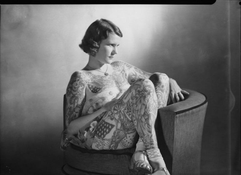 Бетти Бродбент Татуированная Венера Австралия, 4 апреля 1938 года