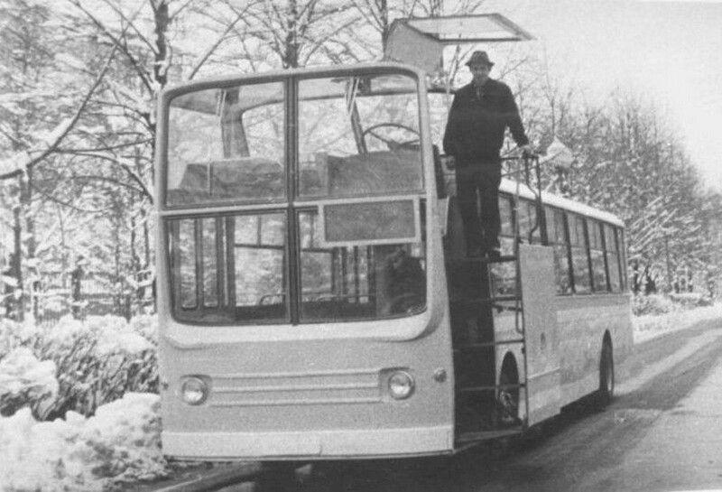Экспериментальный городской автобус НАМИ-0159, 1975 год, СССР