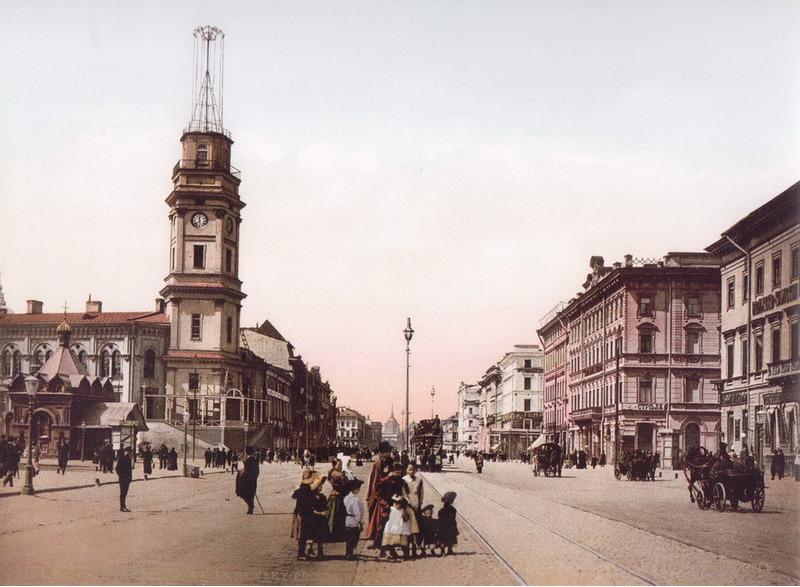 Невский проспект. 1896 Цветная фотография, Санкт-Петербург