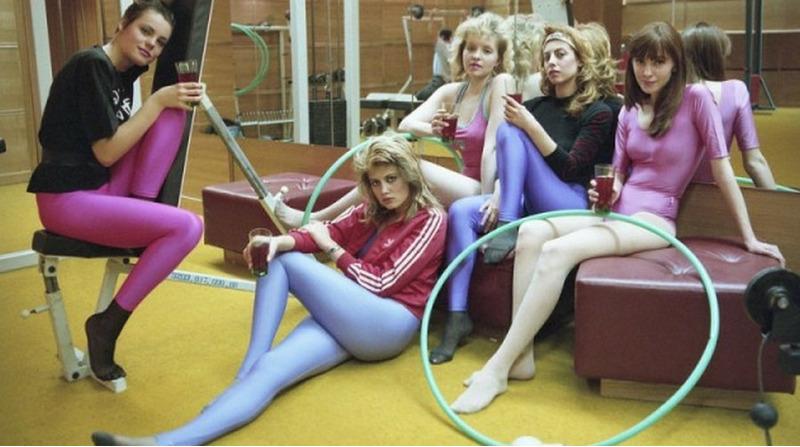 Девушки на занятиях аэробикой. СССР, 80-е