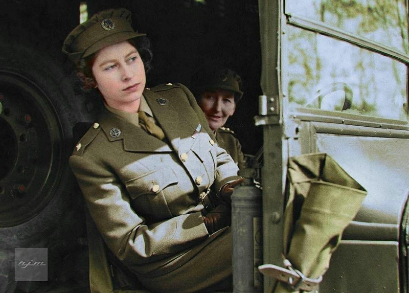 Королева Елизавета II в армии