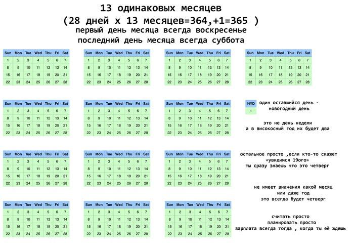 Пользователь Reddit предложил новую версию календаря