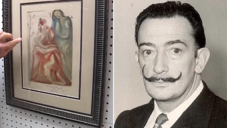 Утерянную картину Сальвадора Дали обнаружили в комиссионном магазине