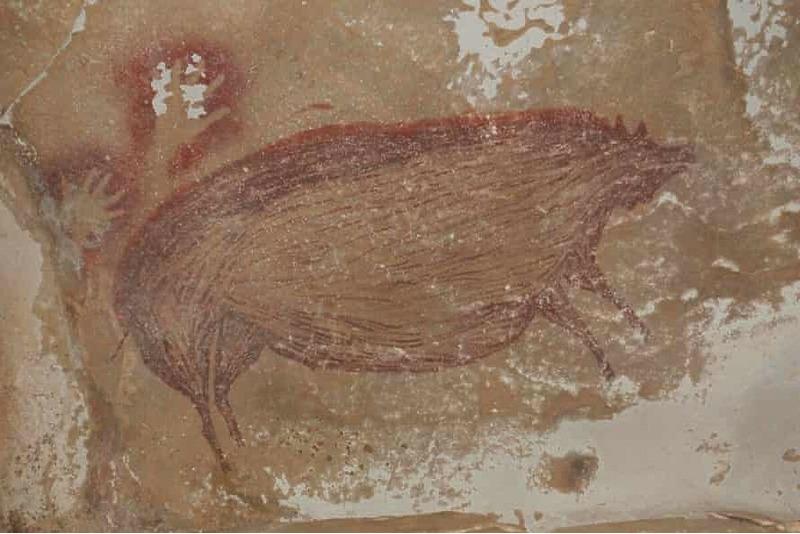 Самый старый наскальный рисунок в мире