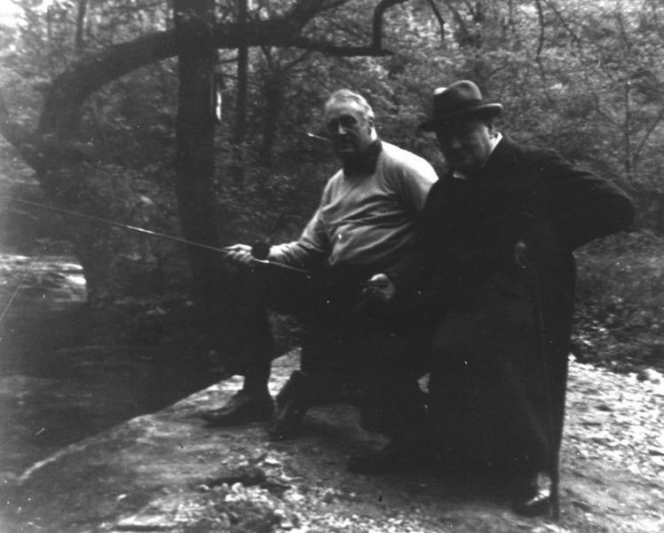 Черчилль и Рузвельт на рыбалке