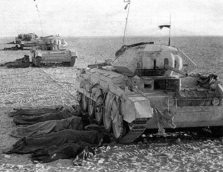 британские танки Crusader в Северной Африке