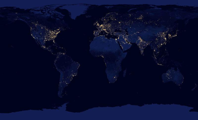панорама ночной Земли