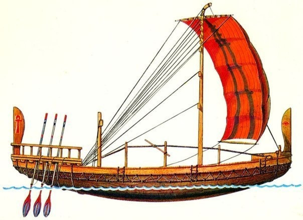 Египетский торговый корабль