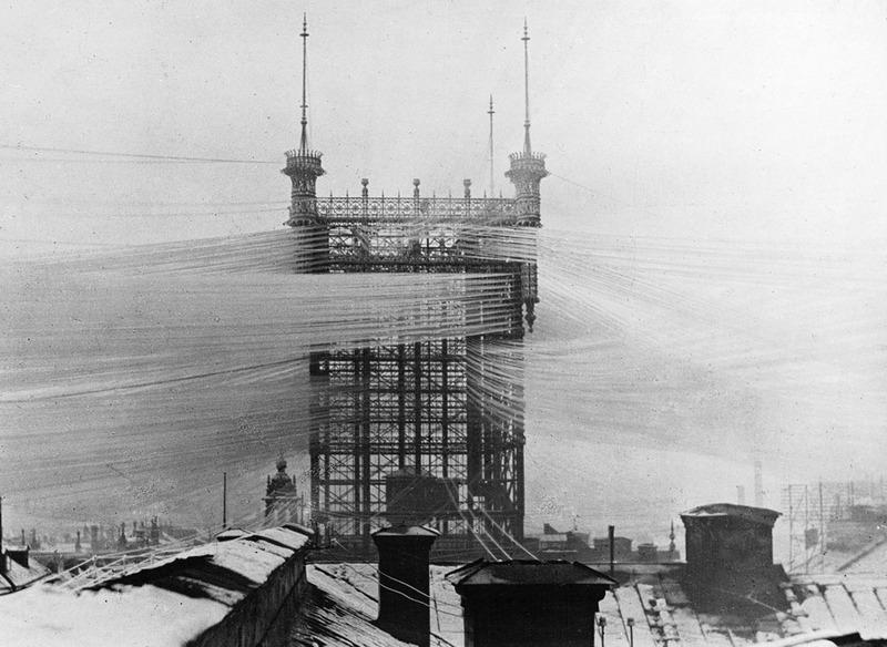 Стокгольмская телефонная башня, Швеция, 1890 год.